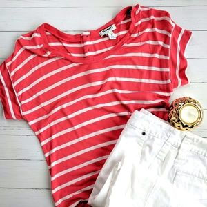 Old Navy Button Back Striped Tee